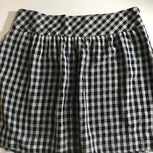 GAP Blue Gingham Skirt - 14